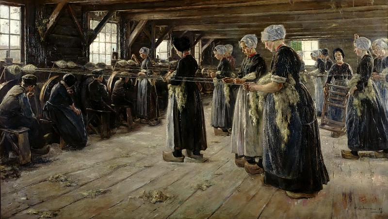 Max Liebermann (1847 - 1935) - The Flax Barn at Laren. Alte und Neue Nationalgalerie (Berlin)