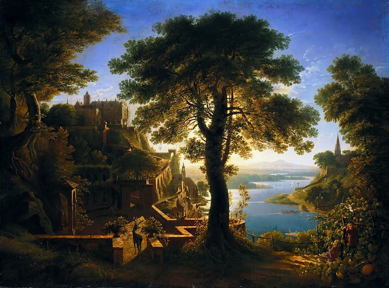 Karl Friedrich Schinkel (1781 - 1841) - Castle by the River. Alte und Neue Nationalgalerie (Berlin)