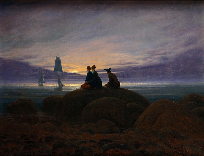 Caspar David Friedrich (1774 - 1840) - Moonrise over the Sea. Alte und Neue Nationalgalerie (Berlin)
