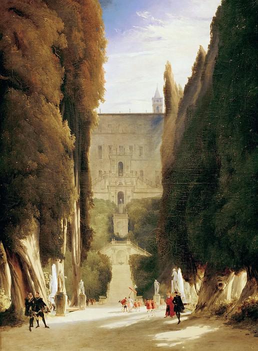 Carl Blechen (1798 - 1840) - In Villa d'Este park. Alte und Neue Nationalgalerie (Berlin)