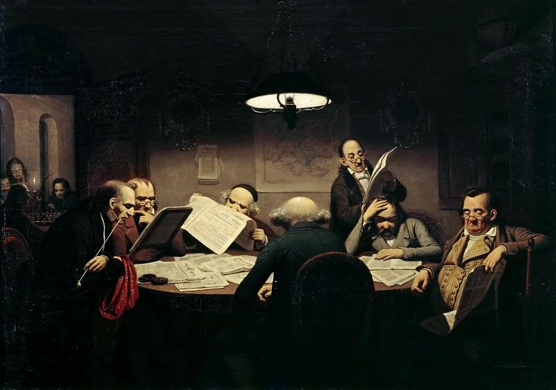 Хазенклевер, Иоганн Петер (1810 - 1853) - Читальный зал. Старая и Новая Национальные Галереи (Берлин)