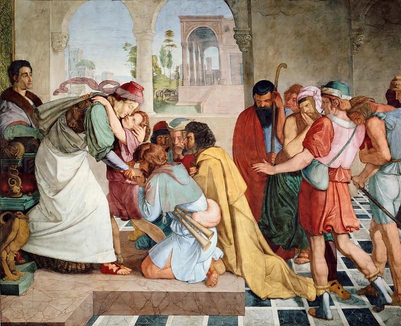 Peter von Cornelius (1783-1867) - Joseph Reveals Himself to His Brothers. Alte und Neue Nationalgalerie (Berlin)