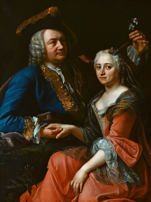 Anonimous Author - Johann Christoph Gottsched with his wife Luise. Alte und Neue Nationalgalerie (Berlin)