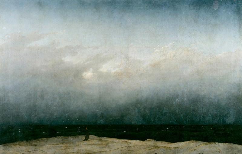 Caspar David Friedrich (1774 - 1840) - Monk by the Sea. Alte und Neue Nationalgalerie (Berlin)