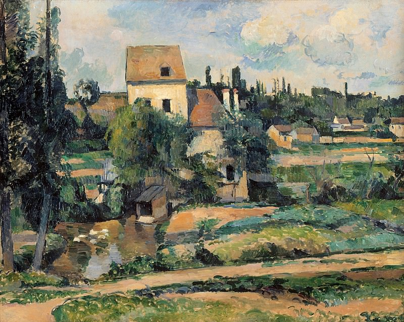 Paul Cezanne (1839-1906) - Mill at Pontoise. Alte und Neue Nationalgalerie (Berlin)