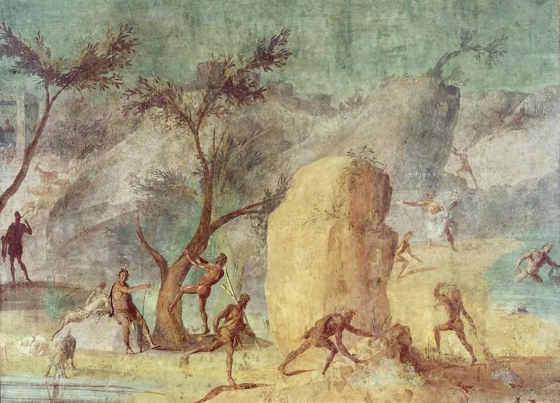 Odyssey Landscapes (detail). Musei Vaticani - fresco