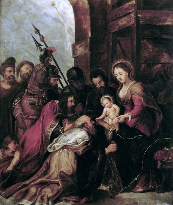 Rubens, Pieter Paul - Adoration of the Magi (copy). Borghese Gallery