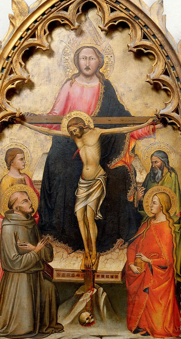 Florentine School - God the Father, Christ Crucified and Saints. Musei Vaticani