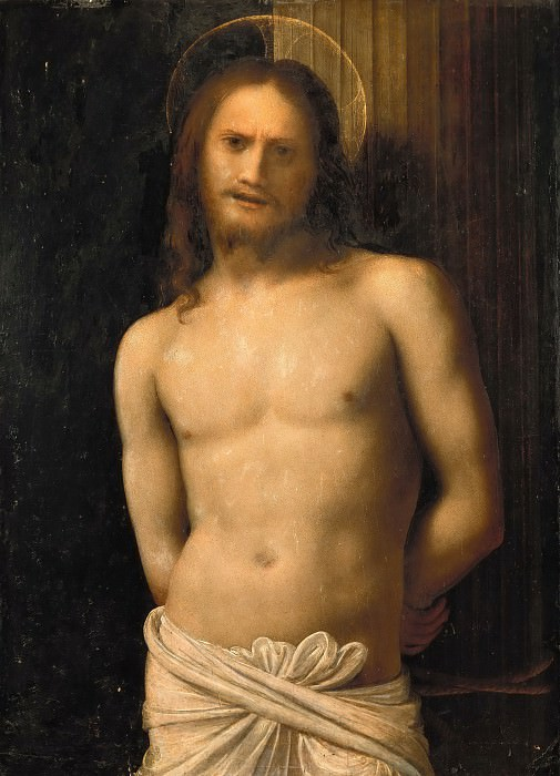 Lombard Painter - Christ on a Column. Musei Vaticani