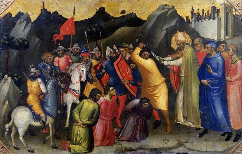 Florentine School - Saint Nicholas Setting Free Three Knights. Musei Vaticani