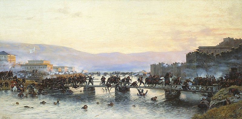 Штурм крепости Ардаган 5 мая 1877 года. 1886. Холст, масло. 107х215 см. Alexey Kivshenko