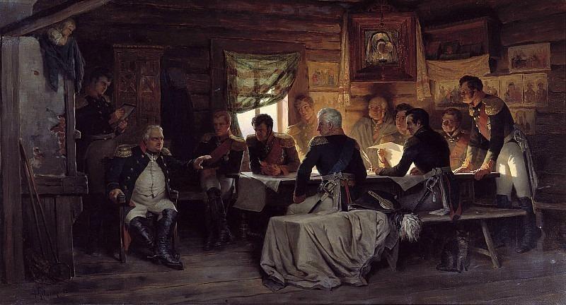 War Council in Fili in 1812. Alexey Kivshenko