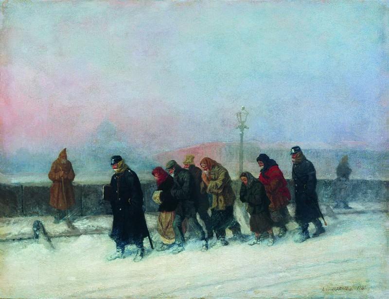 Препровождение арестованных. 1881. Leonid Solomatkin