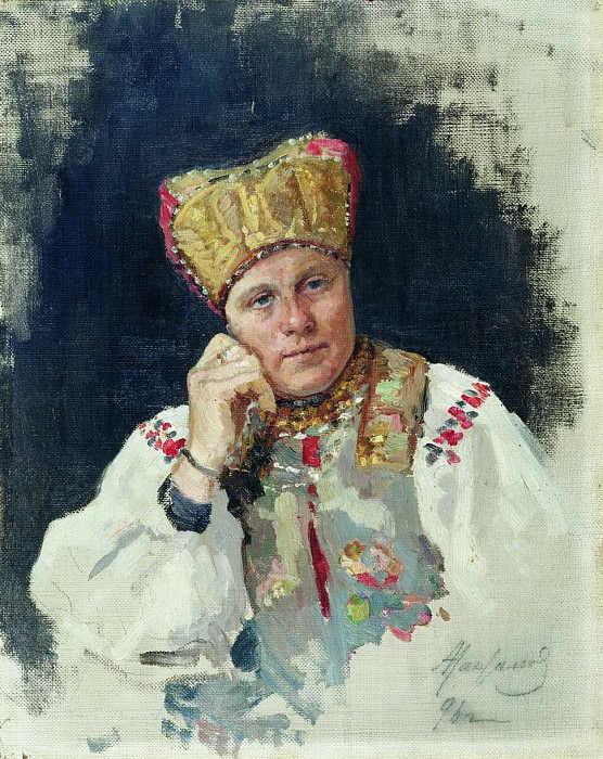 Русская крестьянка. 1896. Vasily Maksimov