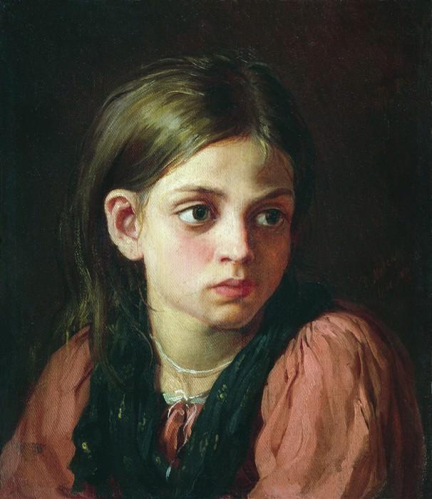 Девочка. 1866. Vasily Maksimov