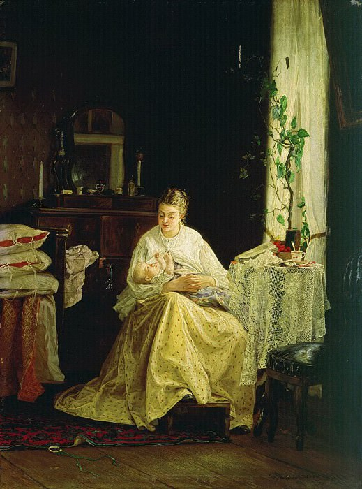 Материнство. 1871. Василий Максимов