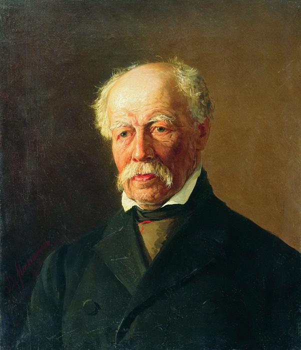 Мужской портрет. 1888. Vasily Maksimov