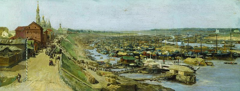 View of Rybinsk city. Vasily Maksimov
