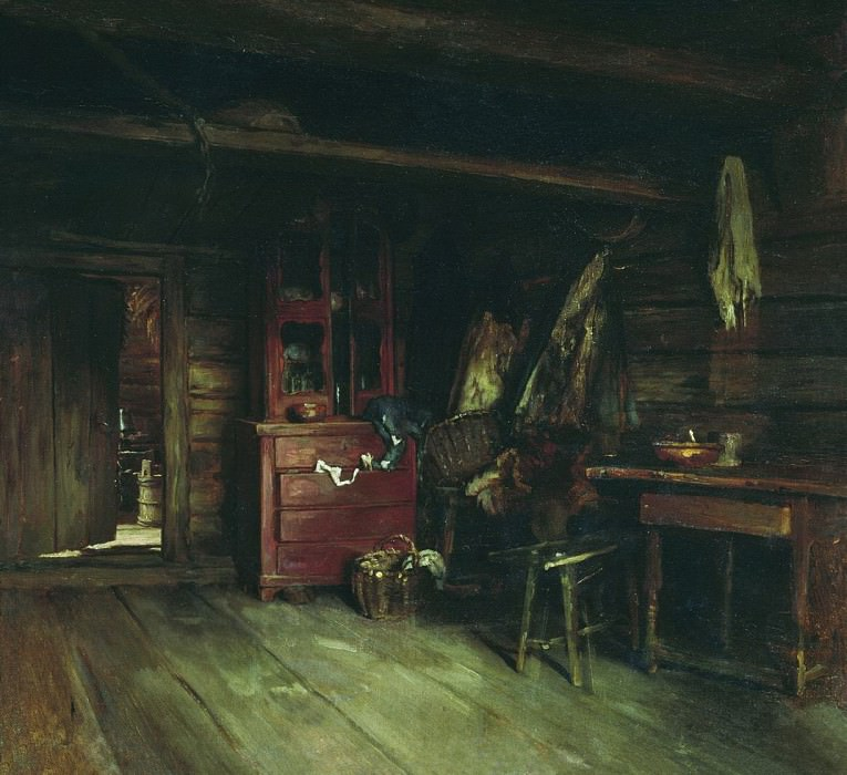 Inside view of the cottage. Vasily Maksimov