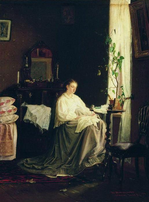 Мечты о будущем. 1868. Vasily Maksimov