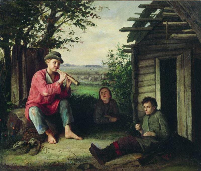 Заслушались. 1864. Vasily Maksimov
