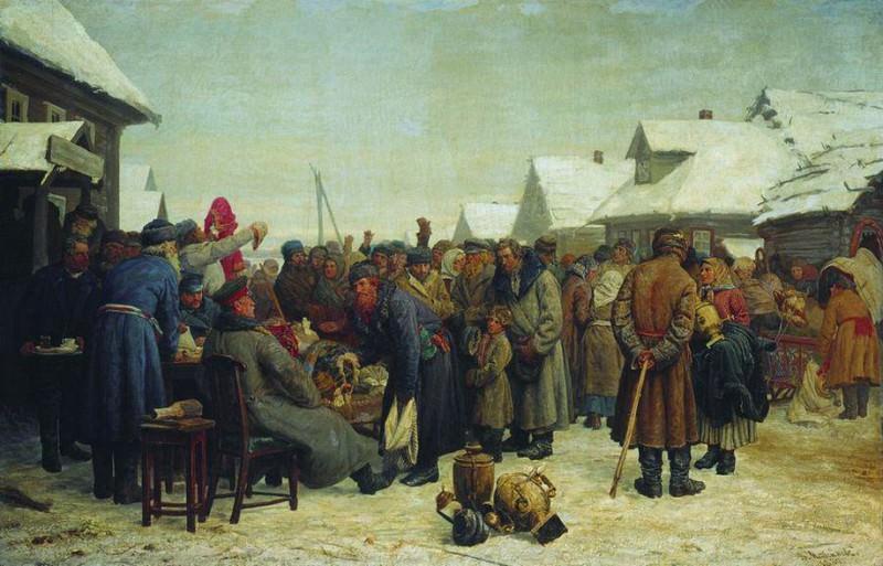 Аукцион за недоимки. 1880-1881. Василий Максимов
