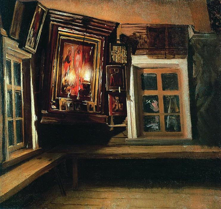 Красный угол в избе. 1869. Василий Максимов