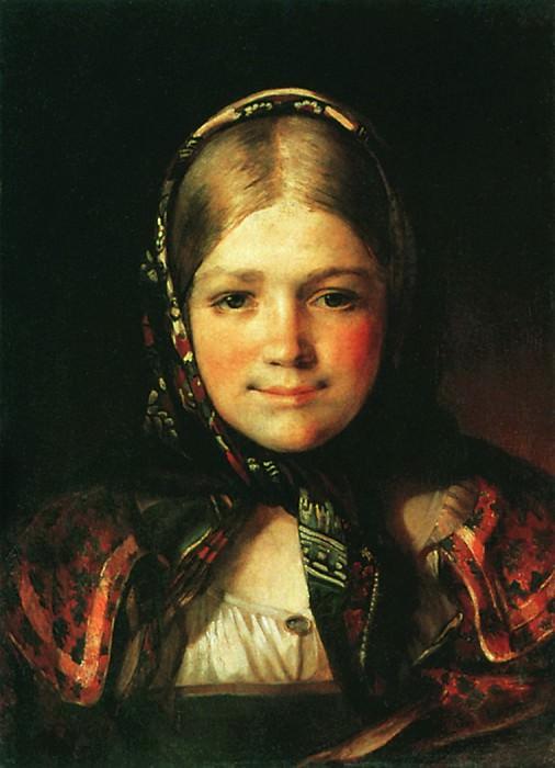 Крестьянская девушка. 1865. Vasily Maksimov