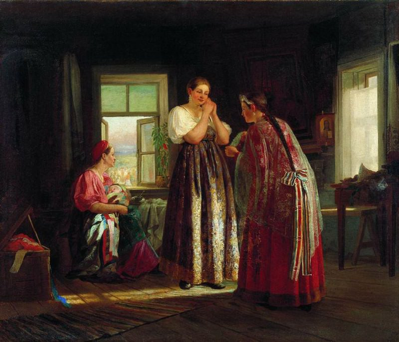 Сборы на гулянье. 1869. Vasily Maksimov