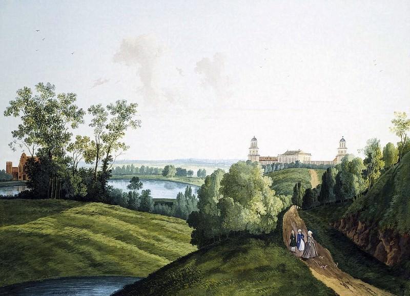 Пейзаж в Царскосельском парке с видом на ферму. Semeon Shedrin