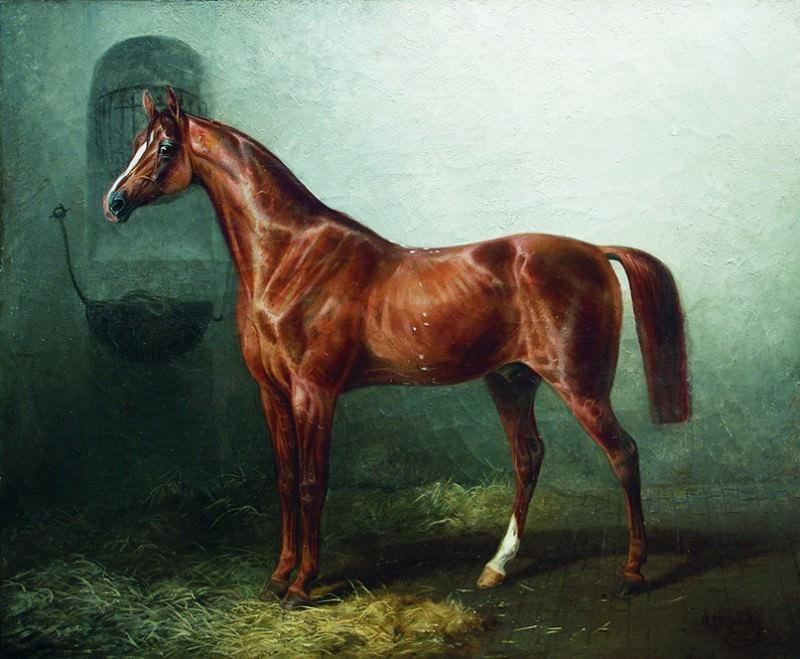 Лошадь в стойле. Nikolay Sverchkov