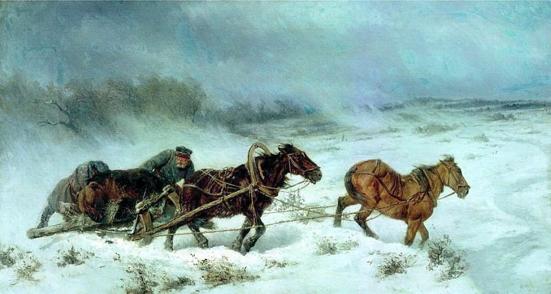 Охота на медведя. 1885. Nikolay Sverchkov