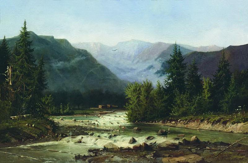 Швейцарский пейзаж. Вторая половина XIX века. Арсений Мещерский
