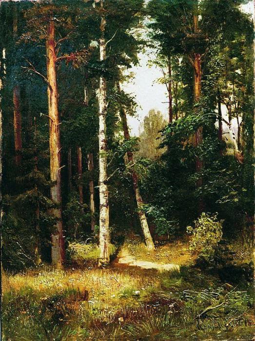 Тропинка в лесу. 1880-е. Арсений Мещерский