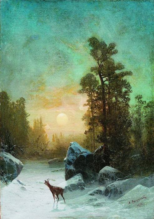 Лунная ночь. Тишина. 1875. Arseny Meshersky