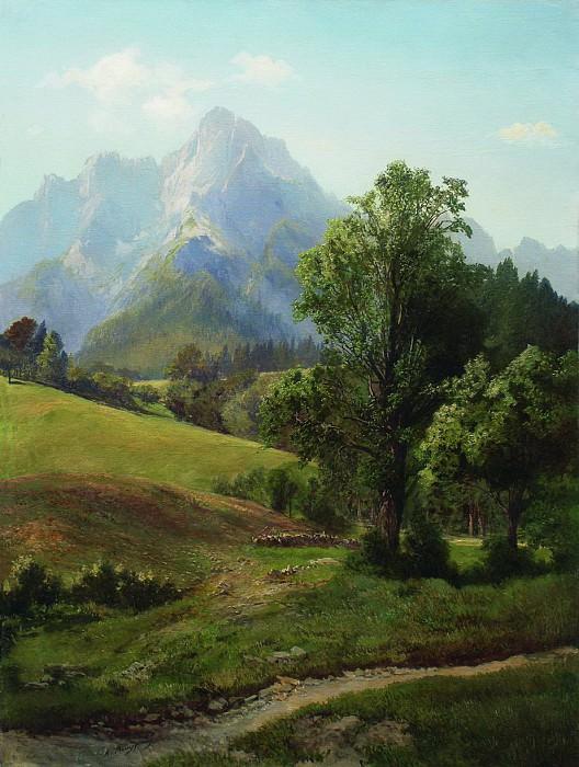 Альпийский пейзаж. 1880-е. Arseny Meshersky
