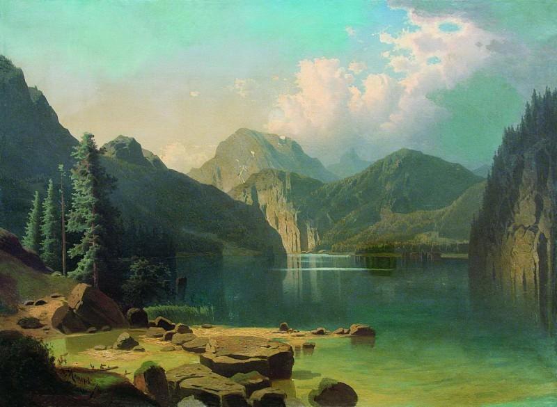 Горное озеро. 1861. Arseny Meshersky