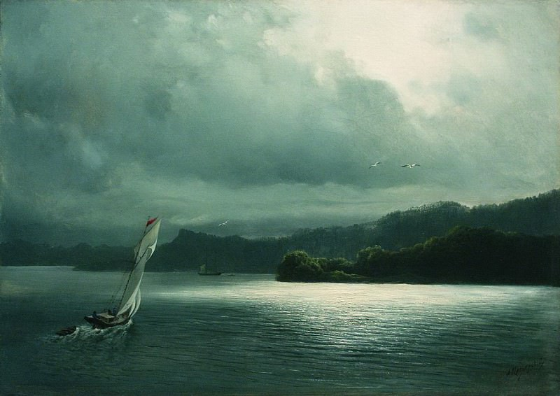 Парусник в море. 1870. Arseny Meshersky