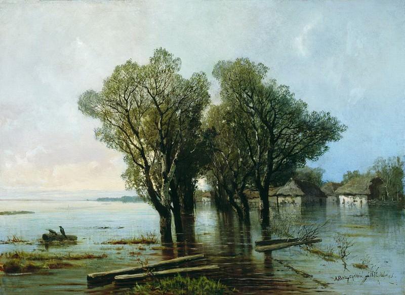 Наводнение в деревне. 1872. Arseny Meshersky
