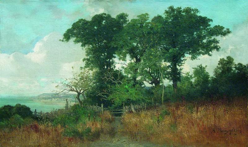 Возле моря. Пейзаж с изгородью. 1890-е. Arseny Meshersky