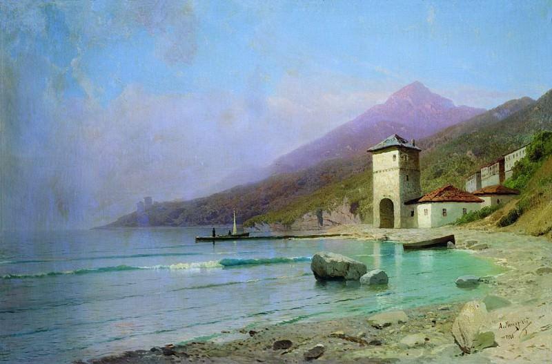 Вид Иверского монастыря на Афоне. 1900. Arseny Meshersky