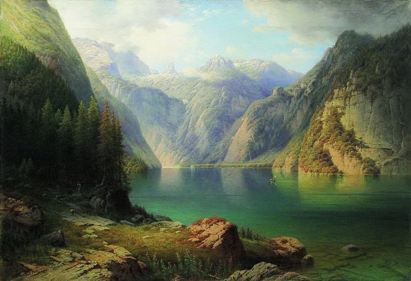 Горное озеро. 1865. Арсений Мещерский