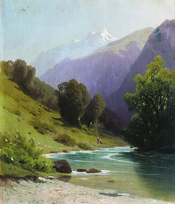 Горный пейзаж. 1884. Arseny Meshersky