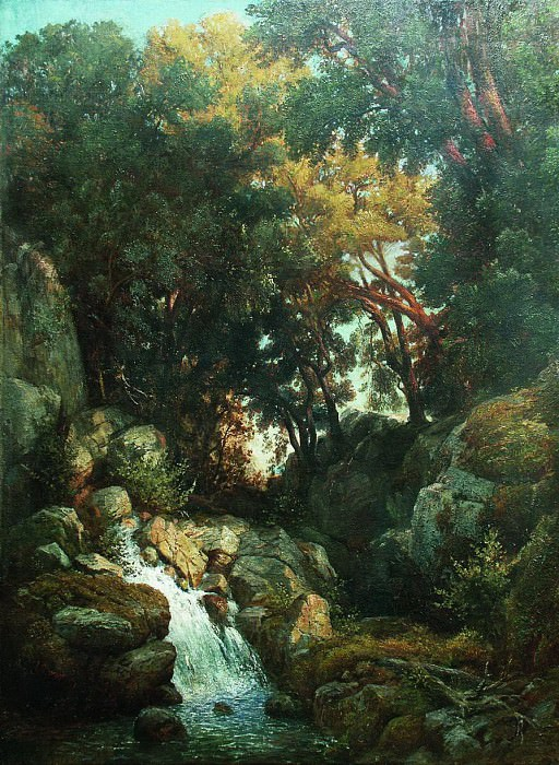 Водопад. 1880-е. Arseny Meshersky