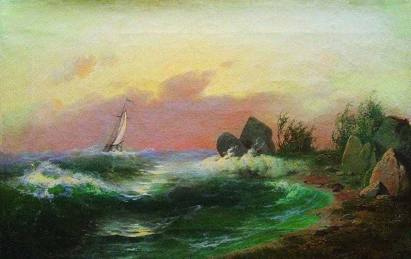 Морской пейзаж. 1870-е. Арсений Мещерский