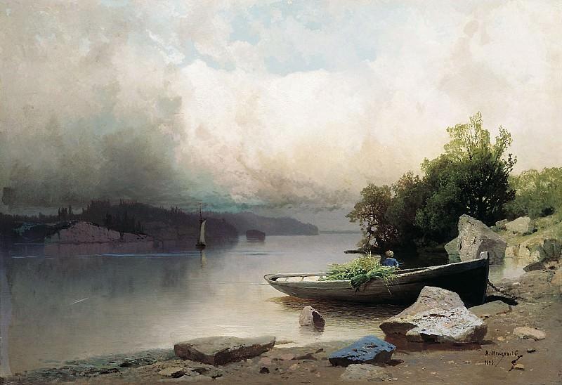 На реке 1898 Холст масло. Арсений Мещерский
