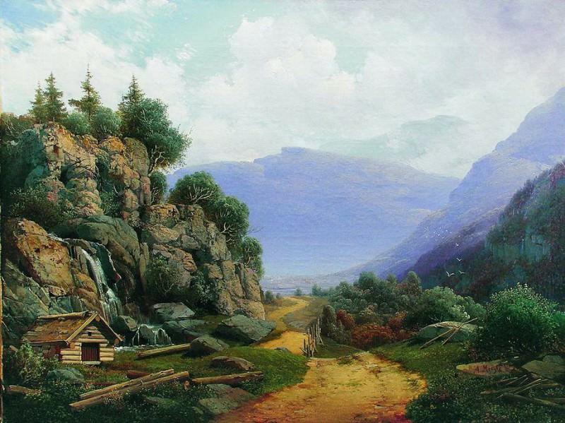 Горный пейзаж. 1860-е. Arseny Meshersky