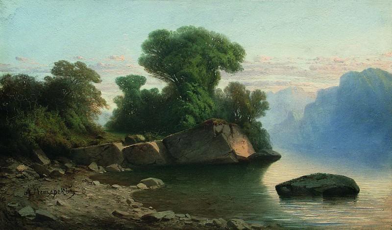 Озеро в горах. 1860 – начало 1870-х. Arseny Meshersky