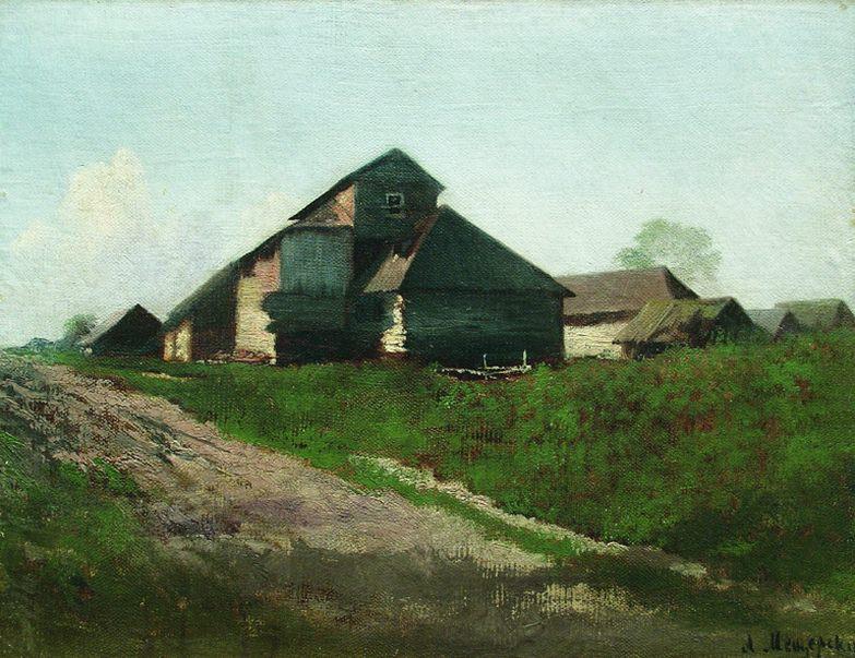 Сельский пейзаж. 1870-е. Arseny Meshersky