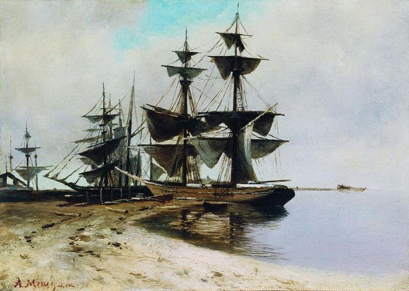 Приморский пейзаж. 1890. Arseny Meshersky